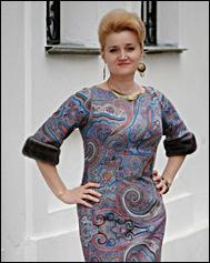 Павловопосадский платок – шьём одежду