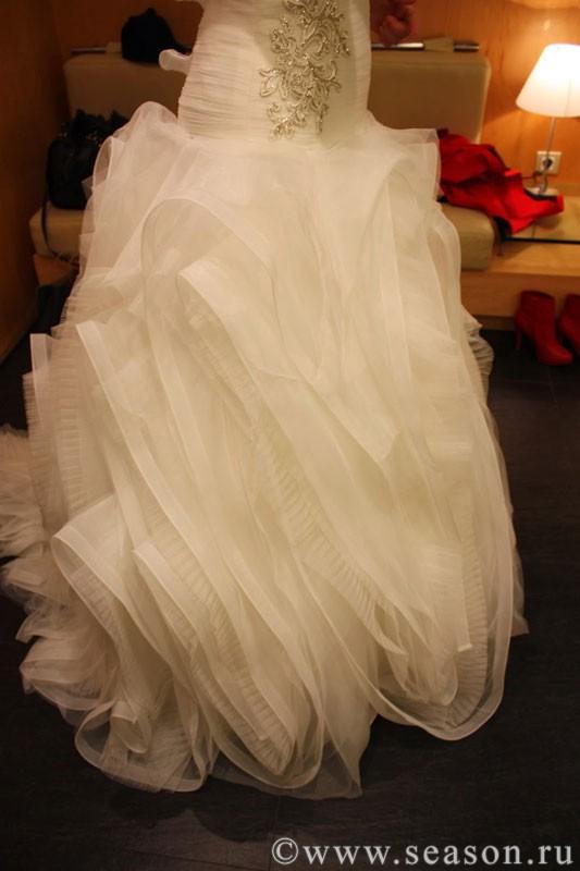 Драпировка свадебных платьев
