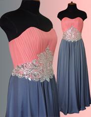 Выпускное платье на корсажной основе с драпировкой