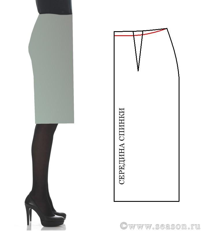 Как исправить складки на юбке