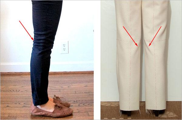 Как сделать так чтобы у брюк не было коленок 15