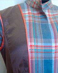 Окантовка борта и обтачки косой бейкой в изделиях на подкладке