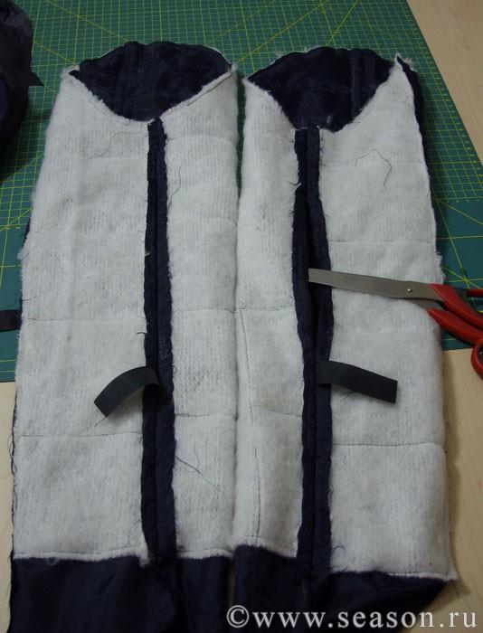 Как сшить жилет из подстежки от куртки 8