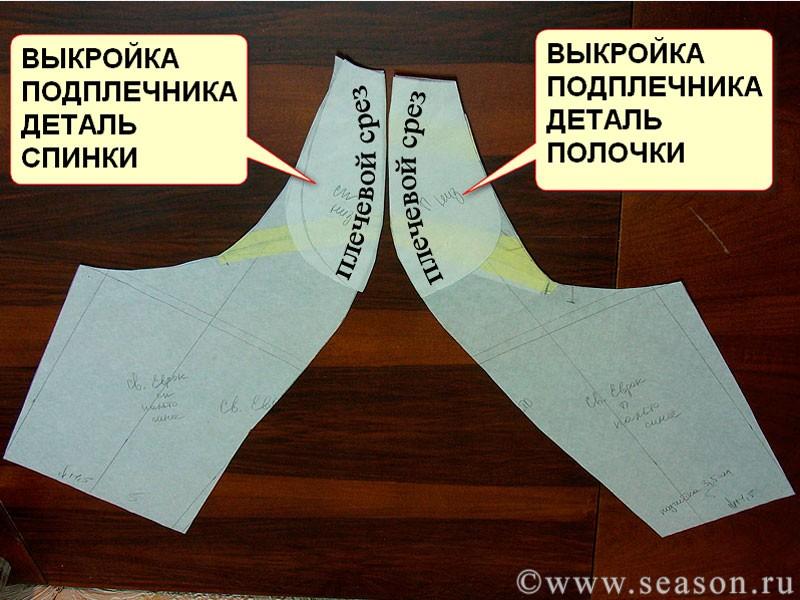 Как сшить подплечники реглан для платья 91