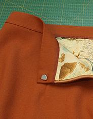 Как сформовать и пришить пояс юбки