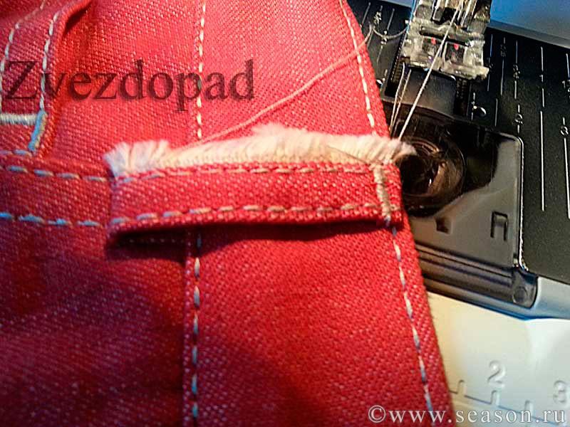 Как сшить шлевки на джинсы 83