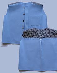 Накладная кокетка мужской рубашки