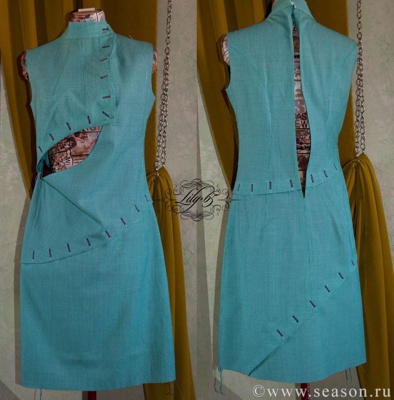 Сшить платье на подкладе от а до  619