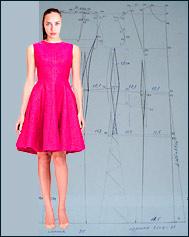 Выкройка для платья с подрезами