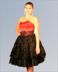 Платье на корсажной основе без отрезных чашек