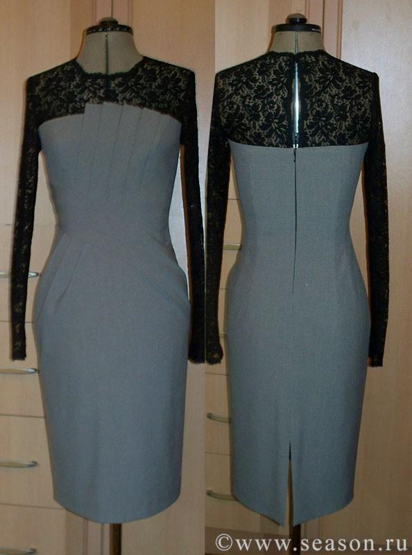 Как сшить комбинированное платье