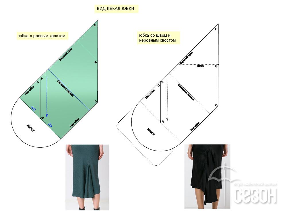 Как сшить юбка с хвостом 355