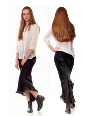 Спиральная юбка - 3D решение косого кроя