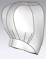 Выкройка капюшона со стойкой