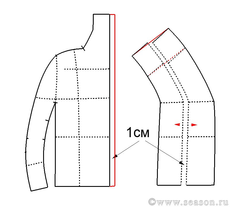 Пальто с цельнокроеным рукавом сшить 10