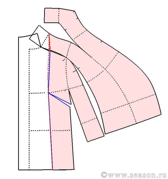 Пальто с цельнокроеным рукавом сшить 4