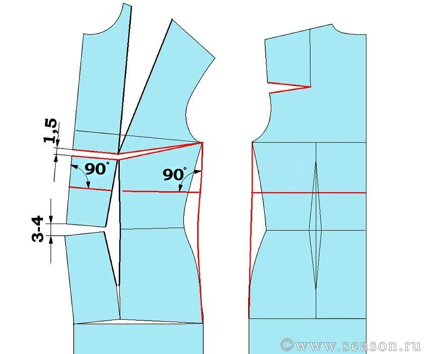 Выкройка пиджак для беременных 78