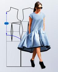 Моделирование платья А-силуэта Виктории Бекхэм