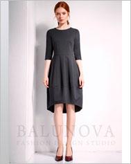 Платье с юбкой бочонок