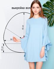 Моделирование платья силуэта трапеция