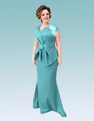 Моделирование платья с запахом, переходящим в баску-бант
