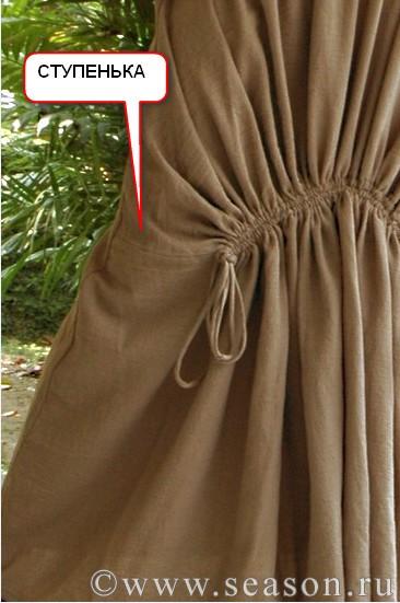 Выкройка юбки на кулиске