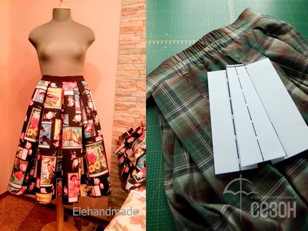 Пояс юбки с частичной резинкой