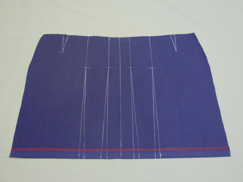 Построить юбку с бантовыми складками