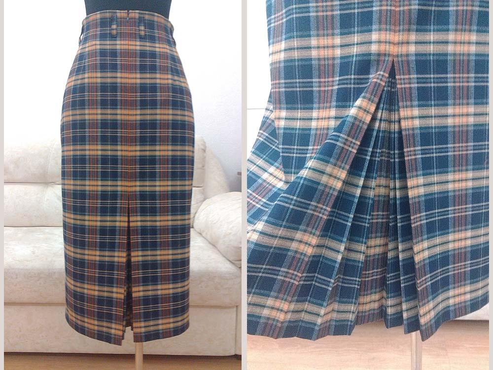 Веерные складки на юбках