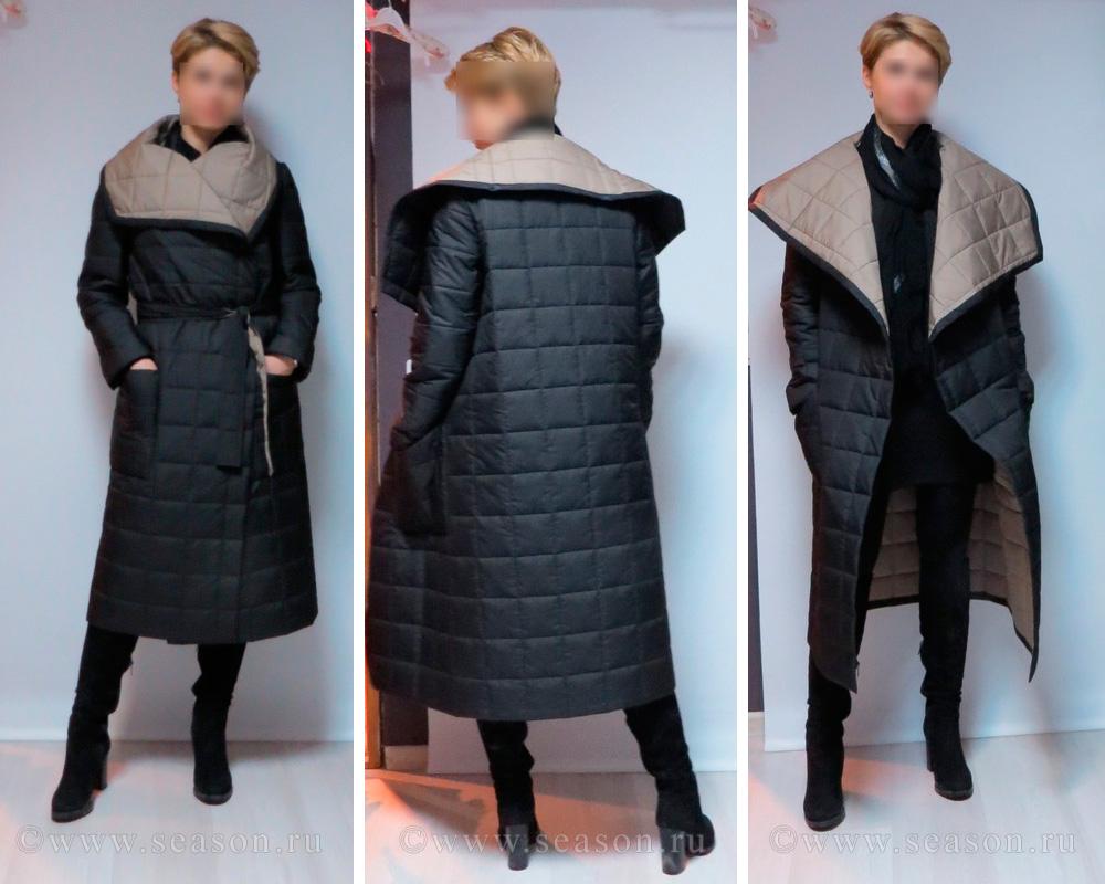 Выкройка пальто квадрат с рукавами