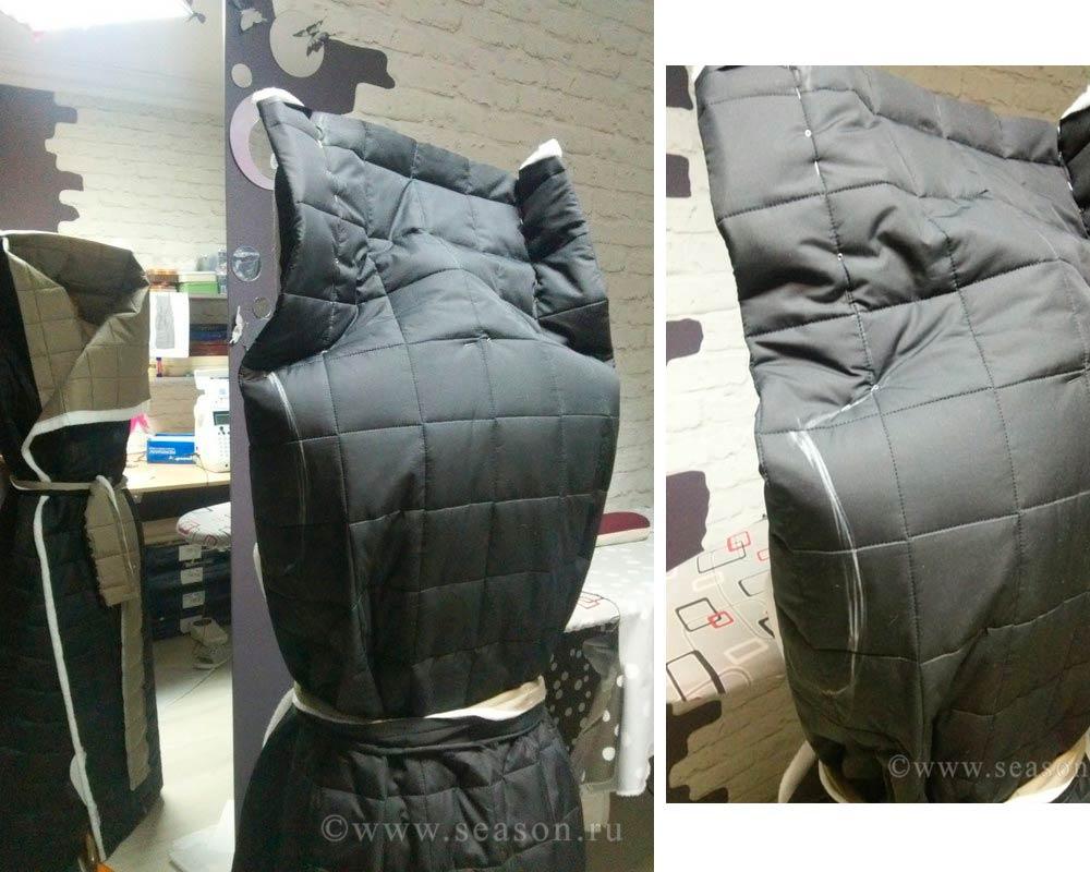 Стёганое пальто выкройка