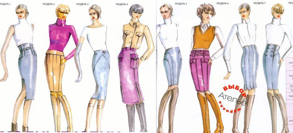 эскизы модной одежды: